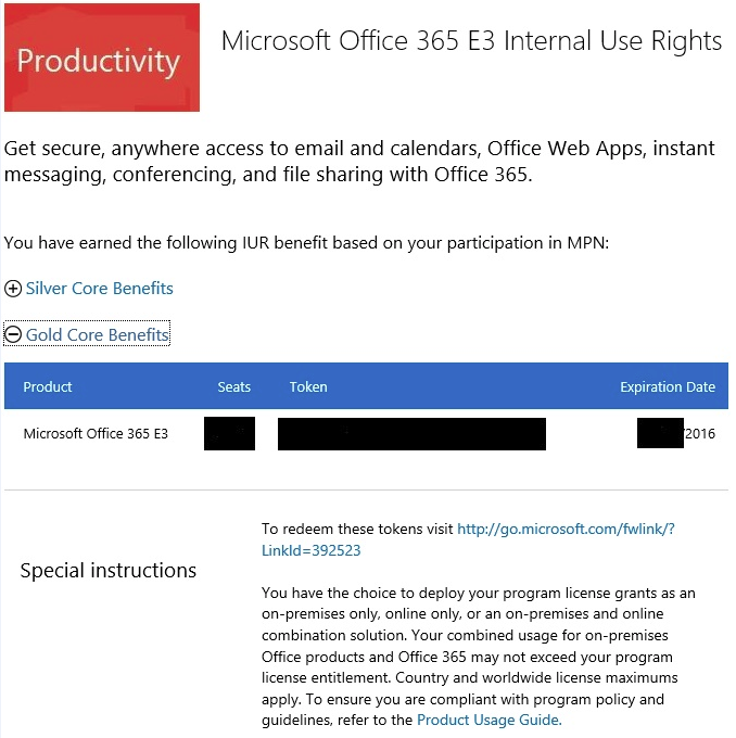 03 Office 365 E3 product benefit