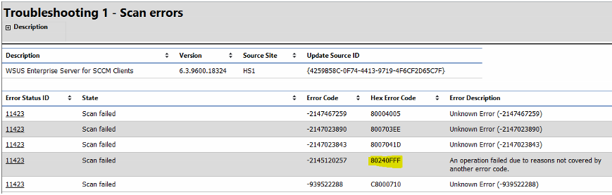 Configuration Manager Update Issue – Windows 10 Servicing